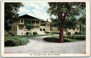 Denver, Colorado Postcard Old Ladies' Home Thayer Publishing c1910s Unused