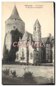 Old Postcard Chateaudun Chateau Le Donjon and the Chapel