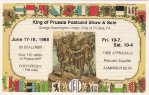 King Of Prussia Postcard Show George Washington Lodge 17-18 June 1988 King Of...