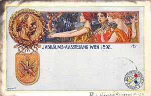 Vienna Germany JVBLaums-AVsstellvng Official 1898 Pioneer Postal Card