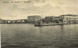 turkey, SMYRNE SMYRNA, Le Passeport et les Quais (1920s) Sarantopoulos