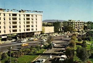 iran, TEHRAN TEHERAN, Shahrivar Square, Bank Bazargani, Cars (1970s)