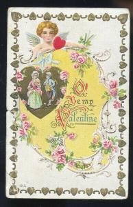 VINTAGE VALENTINES DAY VALENTINE POSTCARD EDMONTON ALBERTA BURY QUEBEC