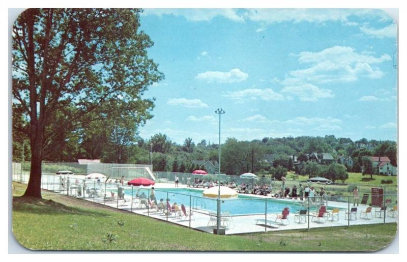 1950s/60s Swimming Pool, Hotel Bader, Spring Valley, NY Postcard