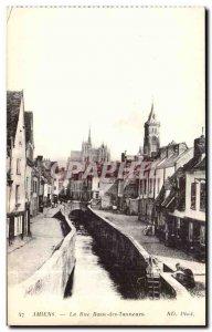Amiens - La Rue Basse Tanners - Old Postcard