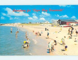 Pre-1980 SCENE AT BEACH Cape May New Jersey NJ ho4988