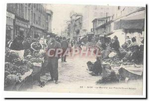 Nice Old Postcard The flower market Cours Saleys (reproduction)