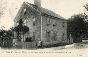 MA - Beverly. 31 Front Street, First Sunday School in America  (Rotograph)
