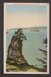 Siwash Rock, Stanley Park, Vancouver, BC - Unused c1940