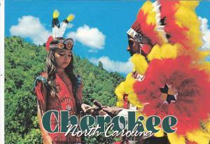 North Carolina Cherokee Indian Father and Daughter