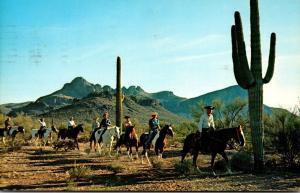 Arizona Horseback Riders On The Desert 1966