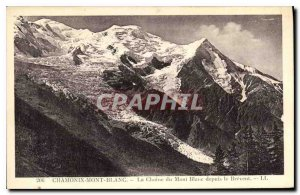 Old Postcard Chamonix the Chain of Mont Blanc from Brevent
