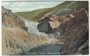 Cardiganshire; Rheidol Falls, Aberystwyth PPC 1910 PMK, To Mrs Daisley, Swavesey