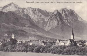 GARMISCH i. bayr. Hochgebirge , Alpspitze , Waxenstein und Zugspitze, 00-10s