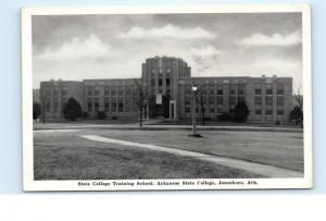 *State College Training School Arkansas State College Jonesboro Ark Postcard C67