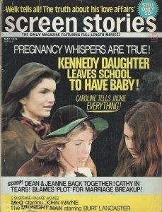 Screen Stories Vintage May 1974 Magazine Jackie Kennedy Caroline Kennedy