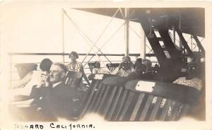 D98/ U.S.S. California Ship Ca Non-Postcard Photograph 1929 Passengers Deck