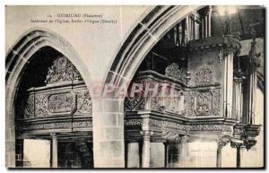 Old Postcard Guimiliau (Finistere) Interior of I Church organ to organ Organs...