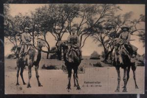 Mint Germany RPPC Real Picture Postcard West Africa German Troops Camel Ride