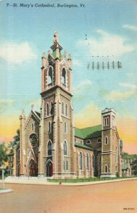 Postcard St Mary's Cathedral Burlington Vermont