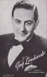 Vintage Arcade Card Guy Lombardo