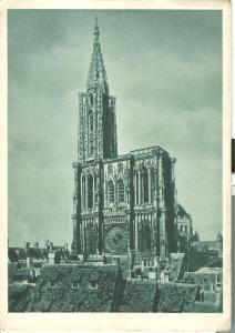 France, Strassburg, Munster, Strasburg, 1944 used Postcard