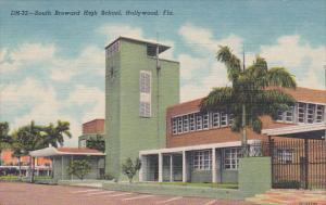 Florida Hollywood South Broward High School Curteich