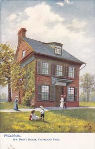TUCK #2258, Wm. Penn's Hpuse, Fairmount Park, PHILADELPHIA, Pennsylvania, 00-10s