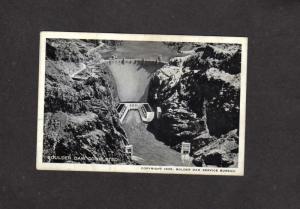 NV Boulder Hoover Dam Construction 1935 Nevada Miniature Postcard AZ Arizona