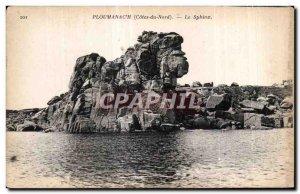 Old Postcard Ploumanac pm The Sphinx