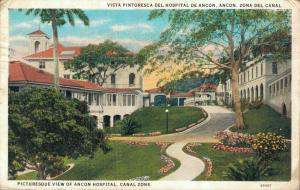 Panama - Picturesque view of Ancon Hospital Canal Zone 01.80