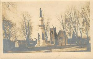 Beaver Pennsylvania~Civil War Soldiers Monument~Church~Homes~1906 RPPC