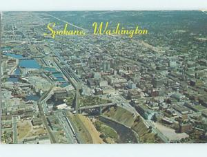 Unused Pre-1980 PANORAMIC VIEW Spokane Washington WA i0256-12