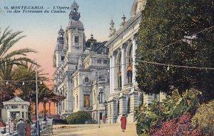 MONTE-CARLO, Monaco, 1900-1910s; L'Opera Vu Des Terrasses Du Casino