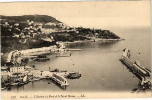 CPA  Nice - L'Entrée du Port et le Mont-Boron  (203448)
