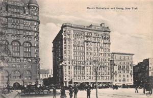 Hotel Netherland and Savoy, New York, N.Y., Early Postcard, Unused