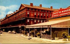 Louisiana New Orleans Cafe Du Monde and Pontalba Apartments