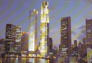 Singapore Night View Of Singapore River
