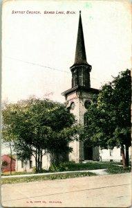 Vtg Carte Postale 1910s - Herbe Lac Michigan Mi - Baptiste Église Unp