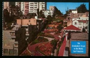 Crookedest Street In The World - Lombard Street San Francisco Unused