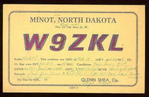 QSL from North Dakota to New Jersey W2ETI