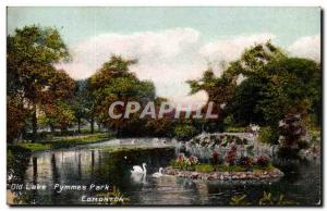 Canada - Old Lake Pymmes Edmonton Park - Swimming Swan - Old Postcard