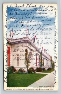 Jamestown Exposition 1907 No. 188 Palace of Liberal Arts - Official Postcard