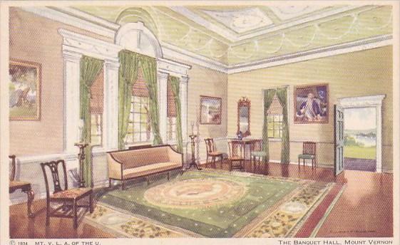 Virginia Mount Vernon The Banqueet Hall