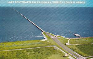 Louisiana New Orleans Lake Ponchartrain Causeway World's Longest Bridge