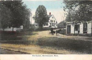 G45/ Merrimacport Massachusetts Postcard c1910 The Square Ice Cream Homes
