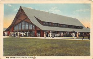 F3/ Virginia Beach Virginia Postcard 1923 New Dance Hall Building Crowd 4