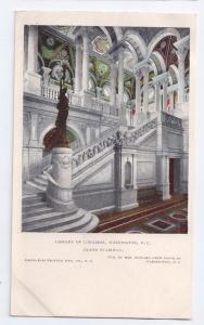 Library of Congress Grand Stairway Washington D.C. UDB c1904