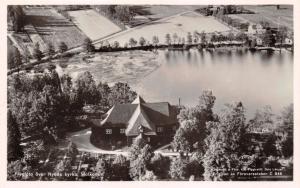 NYEDS KYRKA MOLKON SWEDEN~FLYGFOTO POSTCARD 1940s