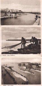 Taranto Peschecce Fishing Bridge Boat 3x Italian Postcard s